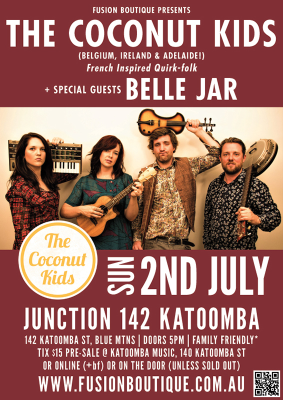 In Concert: 'The Coconut Kids' with Special Guests 'Belle Jar' - blog post image