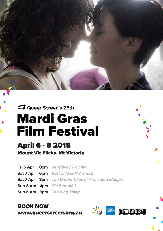 Mardi Gras Film Festival '18 screening @ Mount Vic Flicks - blog post image