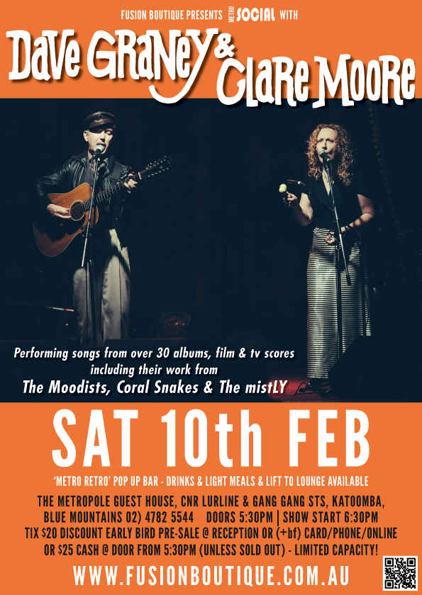 Smooth blends with Dave Graney & Clare Moore @ The Metro - blog post image