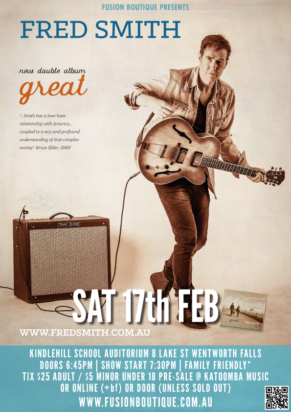 ​Fred Smith's 'Great' CD launch tour - blog post image