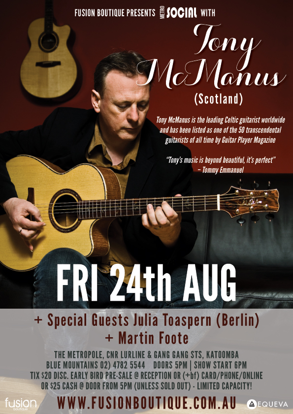 An acoustic August with Tony McManus live @ the Metro - blog post image
